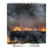 Fires Sunset Landscape Shower Curtain