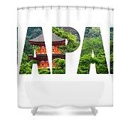 Five-storey Pagoda In Miyajima, Japan  Shower Curtain