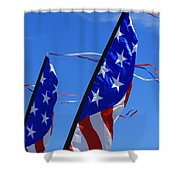 Patriotic Flying Kite Shower Curtain