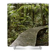 Forest Boardwalk Shower Curtain
