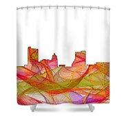 Fort Wayne Indiana Skyline Shower Curtain