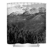 Fresh Snow On Pikes Peak Shower Curtain