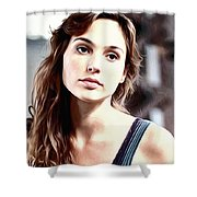 Gal Gadot Art Shower Curtain