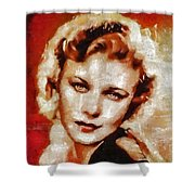 Ginger Rogers Hollywood Actress And Dancer Shower Curtain