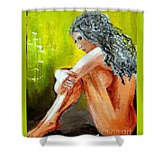 Girl Nude Shower Curtain
