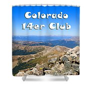 Hikers And Scenery On Mount Yale Colorado Shower Curtain