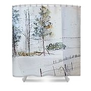 Idaho Landscape Book Shower Curtain