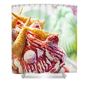 Italian Gelato Gelatto Ice Cream Display In Shop Shower Curtain