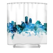 Knoxville Tennessee Skyline Shower Curtain