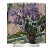 Lilacs In A Window Shower Curtain