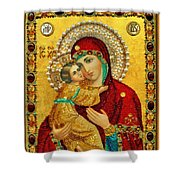 Madonna And Child Christian Art Shower Curtain