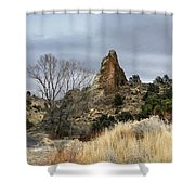 6 Mile Canyon Drive-2241-r2 Shower Curtain