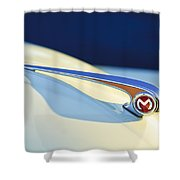 Morris Minor 1000 Hood Ornament Shower Curtain