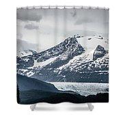 Mountain Range Scenes In June Around Juneau Alaska Shower Curtain