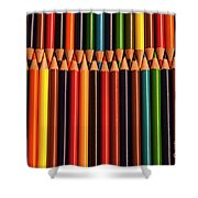 Multicolored Pencils  Shower Curtain