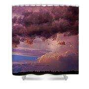 Nebraska Hp Supercell Sunset Shower Curtain