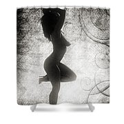 Neemah African American Nude Girl In Sexy Sensual Black And Whit Shower Curtain