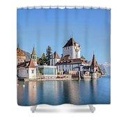 Oberhofen - Switzerland Shower Curtain