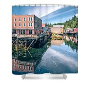 Old Historic Town Of Ketchikan Alaska Downtown Shower Curtain