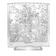 On The Road With 36 Digits Of Pi Shower Curtain