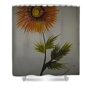 One Stroke Painting Shower Curtain