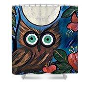 Owl Midnight Shower Curtain