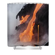 Pahoehoe Lava Flow Shower Curtain