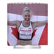 Pam Am Games Athletics Shower Curtain