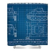 Sd. Kfz. 123. Panzerkampfwagen II - Lynx Shower Curtain