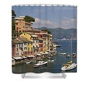 Portofino In The Italian Riviera In Liguria Italy Shower Curtain