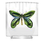 6 Queen Alexandra Butterfly Shower Curtain