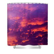 Red Cloudscape At Sunset. Shower Curtain