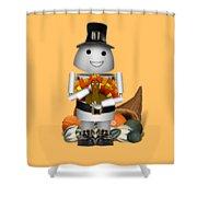 Robo-x9 The Pilgrim Shower Curtain