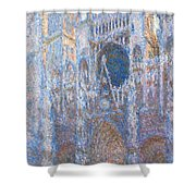 Rouen Cathedral, West Facade Shower Curtain