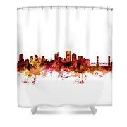 Sacramento California Skyline Shower Curtain