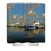 6- Sailfish Marina Shower Curtain