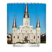Saint Louis Cathedral Shower Curtain