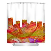 Scottsdale Arizona Skyline Shower Curtain
