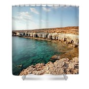 Sea Caves Ayia Napa - Cyprus Shower Curtain