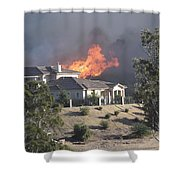 Socal Fires Shower Curtain