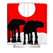 Star Wars At-at Collection Shower Curtain