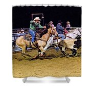 Steer Roping Shower Curtain