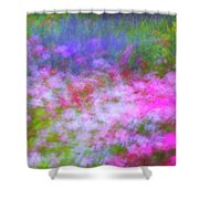 Summer Impression Series Panorama - Flowers Shower Curtain by Ranjay Mitra
