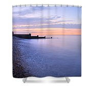 Sunrise At The White Cliffs Of Dover Shower Curtain