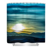 Sunrise Over Colorado Rocky Mountains Shower Curtain