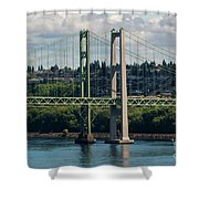 Tacoma Narrows Bridge Shower Curtain