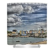 Tenby Harbour Shower Curtain