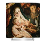 The Holy Family With Shepherds Shower Curtain