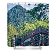 Totems Art And Carvings At Saxman Village In Ketchikan Alaska Shower Curtain