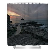 Trebarwith Strand - Cornwall Shower Curtain